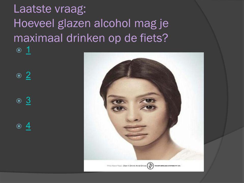 Laatste vraag: Hoeveel glazen alcohol mag je maximaal drinken op de fiets