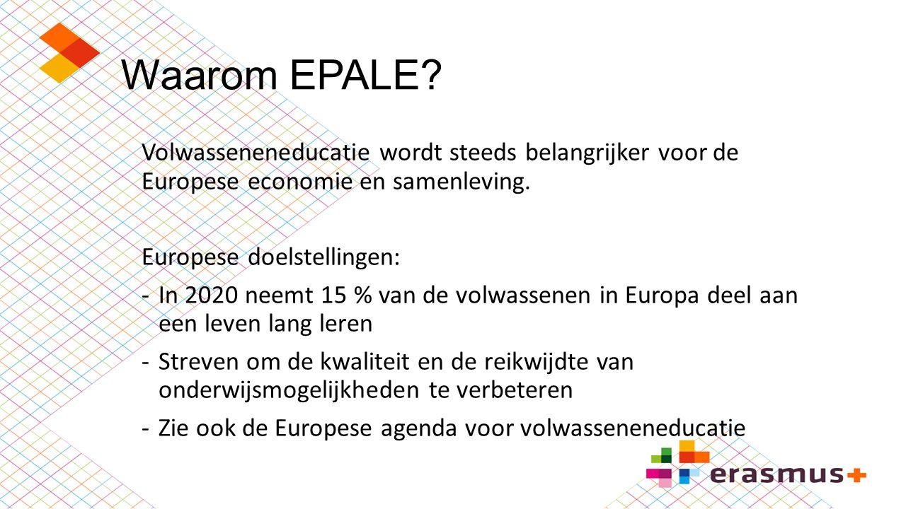 Waarom EPALE Volwasseneneducatie wordt steeds belangrijker voor de Europese economie en samenleving.