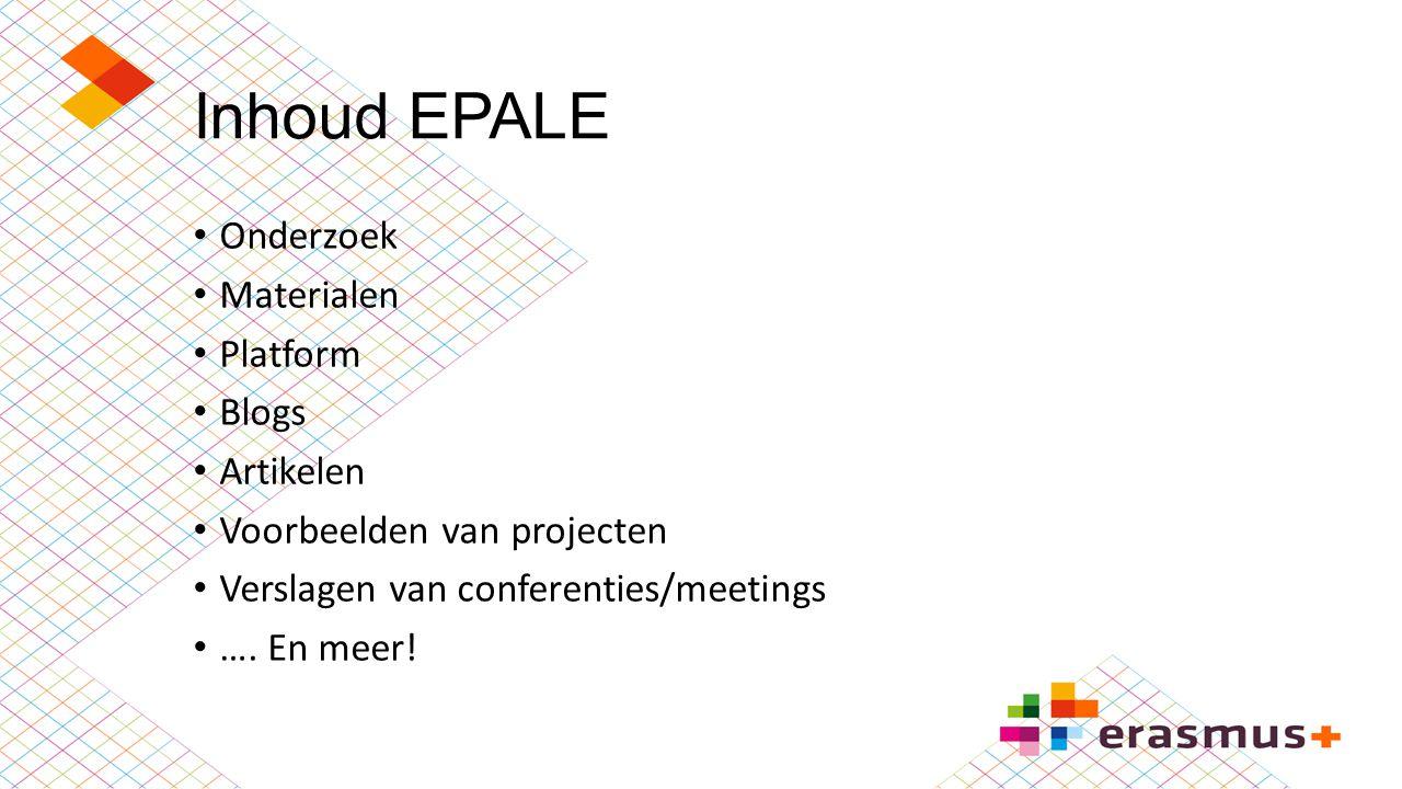 Inhoud EPALE Onderzoek Materialen Platform Blogs Artikelen