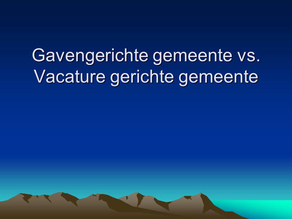 Gavengerichte gemeente vs. Vacature gerichte gemeente