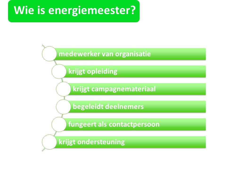 Wie is energiemeester medewerker van organisatie krijgt opleiding