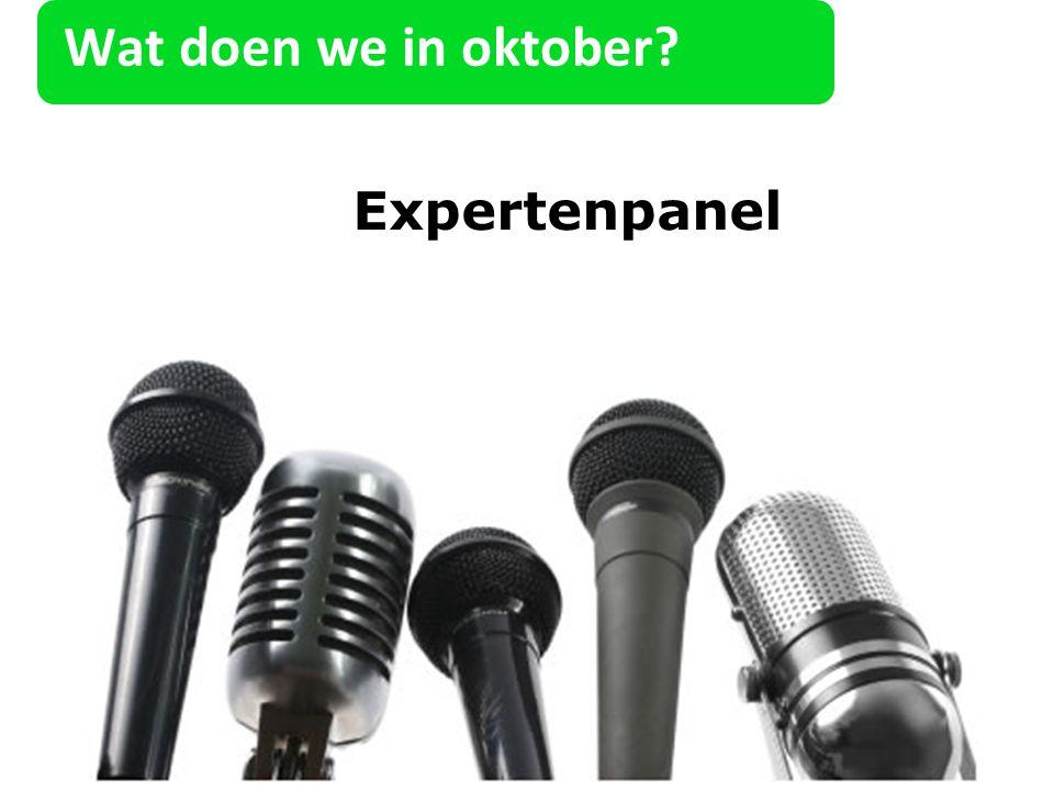 Wat doen we in oktober Expertenpanel 22