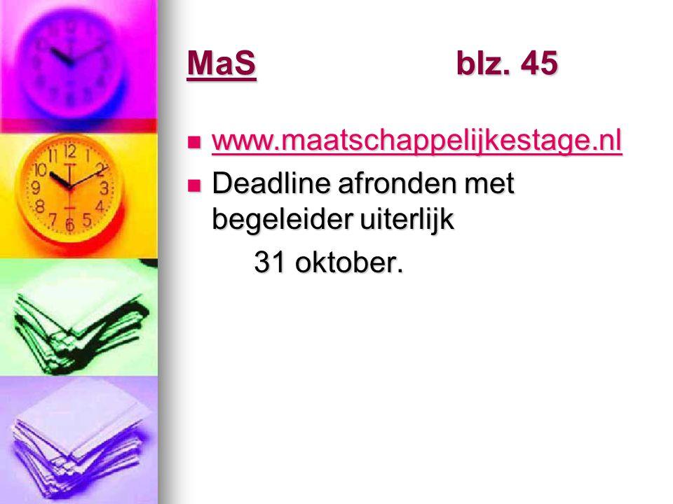 MaS blz. 45 www.maatschappelijkestage.nl