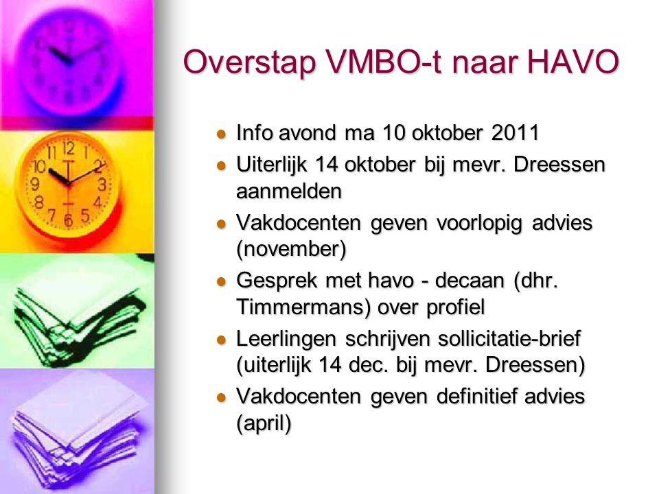 Overstap VMBO-t naar HAVO