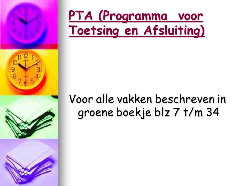 PTA (Programma voor Toetsing en Afsluiting)