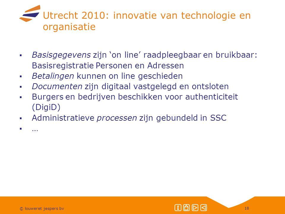 Utrecht 2010: innovatie van technologie en organisatie