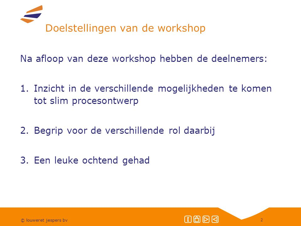 Doelstellingen van de workshop