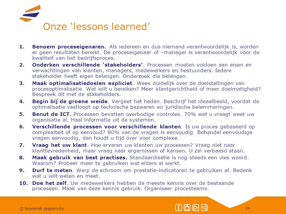 Onze 'lessons learned'