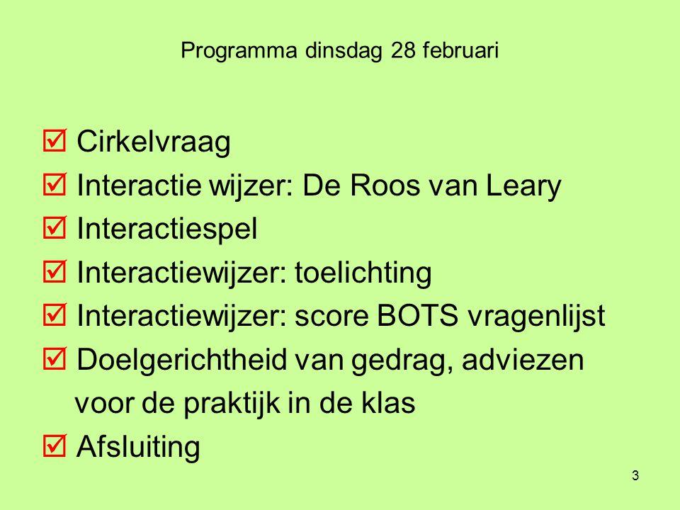 Programma dinsdag 28 februari