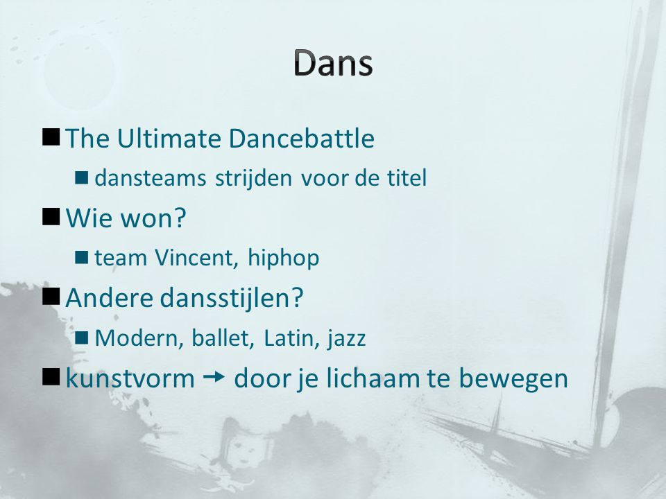 Dans The Ultimate Dancebattle Wie won Andere dansstijlen