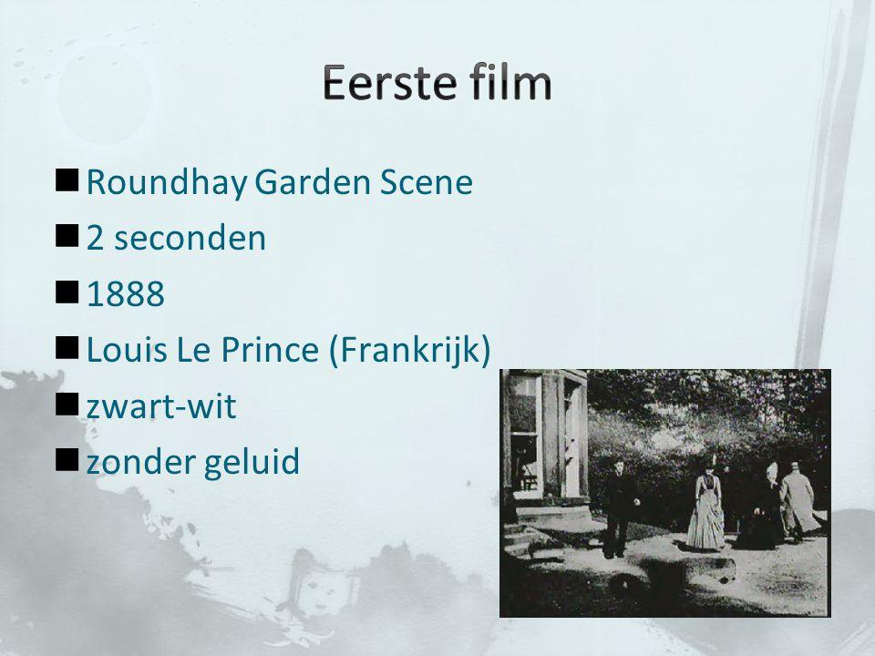 Eerste film Roundhay Garden Scene 2 seconden 1888