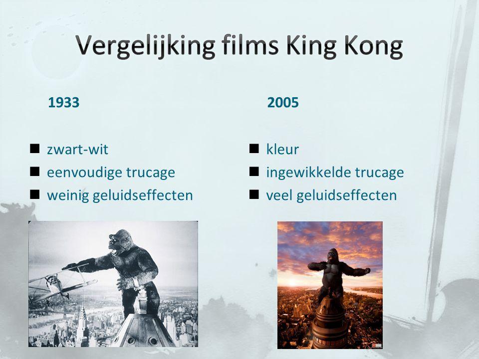 Vergelijking films King Kong