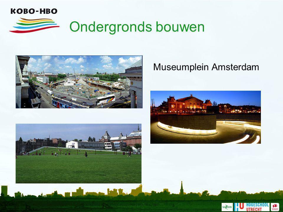 Ondergronds bouwen Museumplein Amsterdam