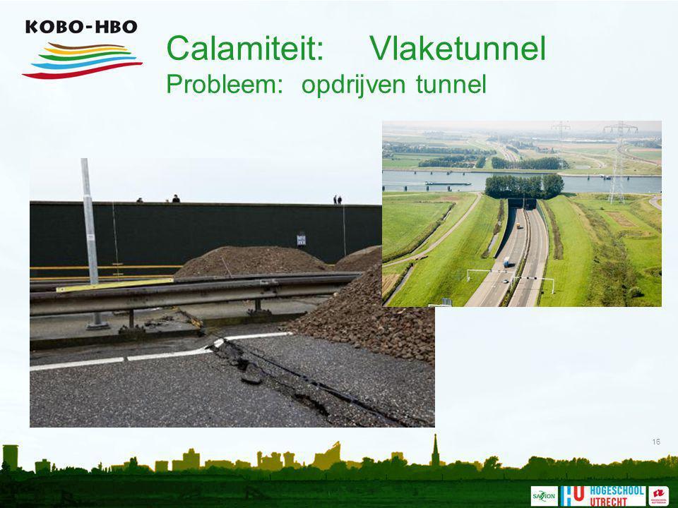 Calamiteit: Vlaketunnel Probleem: opdrijven tunnel