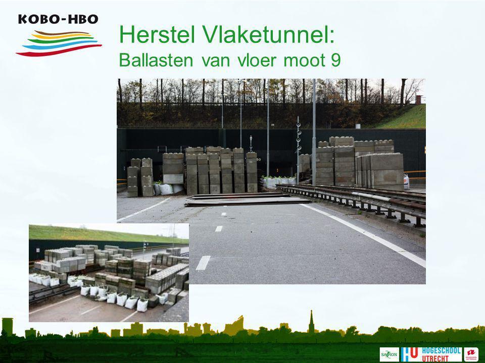 Herstel Vlaketunnel: Ballasten van vloer moot 9