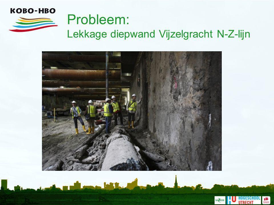 Probleem: Lekkage diepwand Vijzelgracht N-Z-lijn