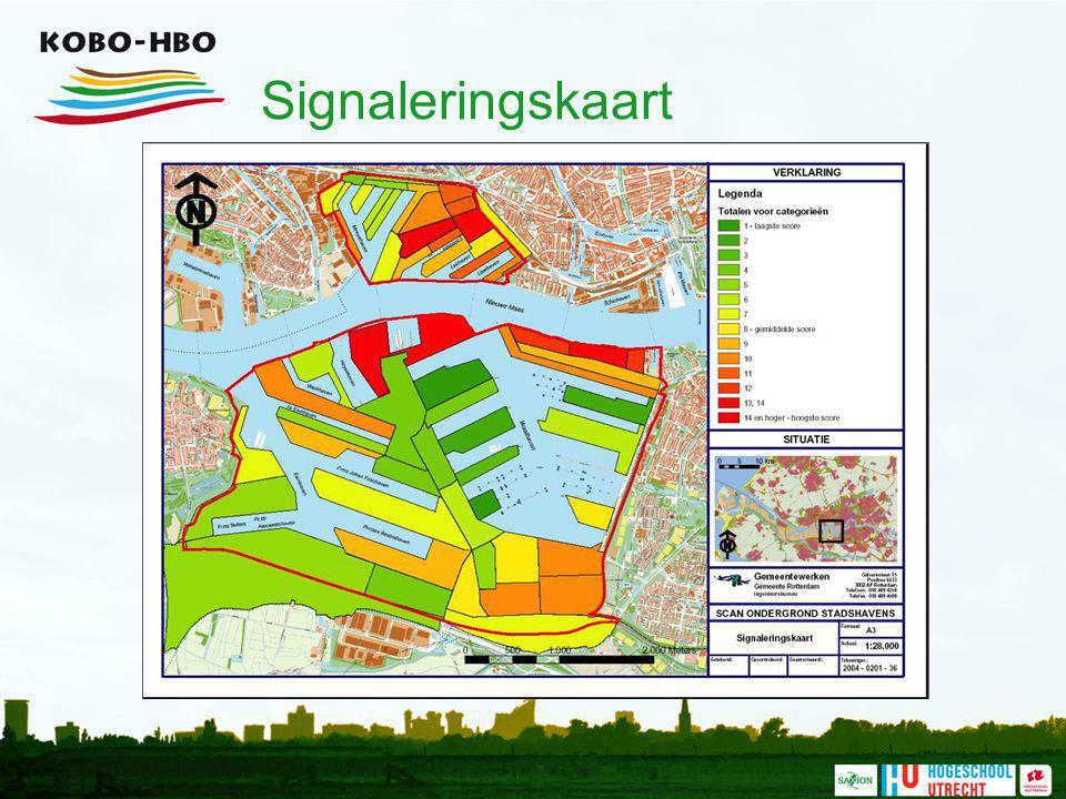 Signaleringskaart Dit is de uiteindelijke signaleringskaart, die samengesteld is op basis van de afzonderlijke kaarten voor de verschillende thema's.