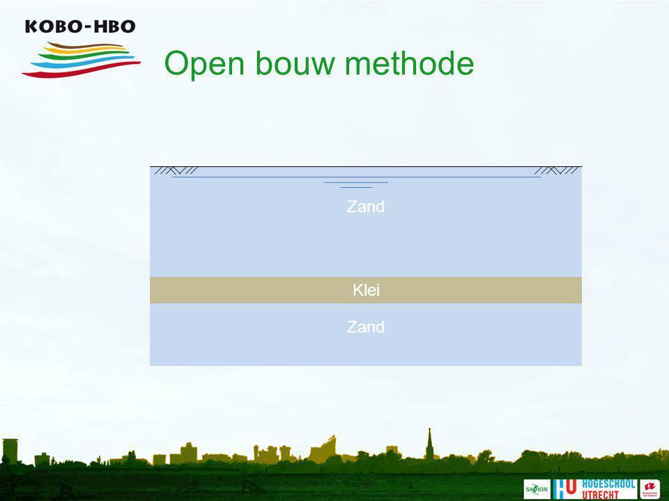 Open bouw methode Zand Klei