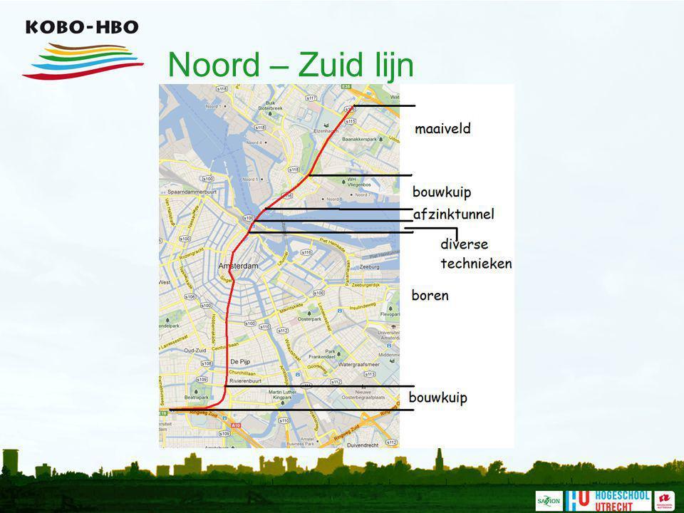 Noord – Zuid lijn Er worden veel verschillende bouwtechnieken gebruikt bij de Noord-Zuidlijn.