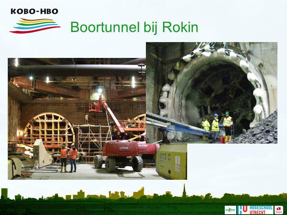 Boortunnel bij Rokin Foto's van de bouwkuip bij het Rokin, waar de boorkop net aangekomen is.
