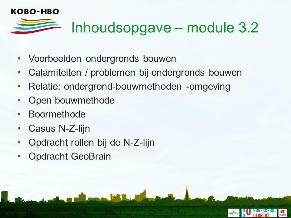 Inhoudsopgave – module 3.2
