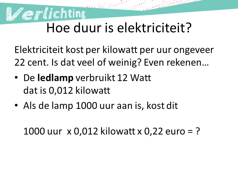 Hoe duur is elektriciteit