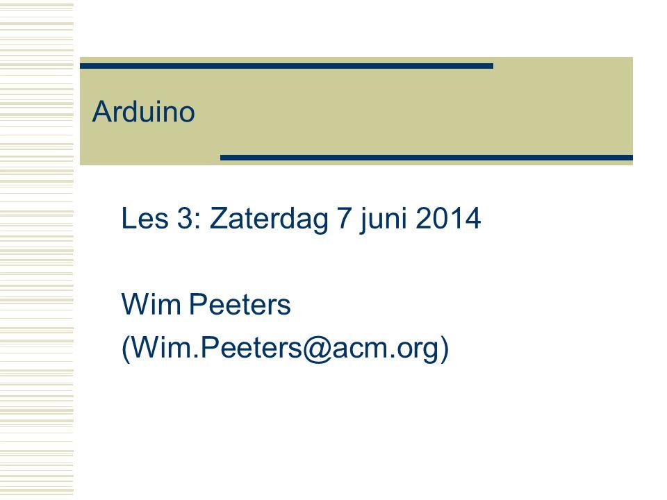 Les 3: Zaterdag 7 juni 2014 Wim Peeters (Wim.Peeters@acm.org)