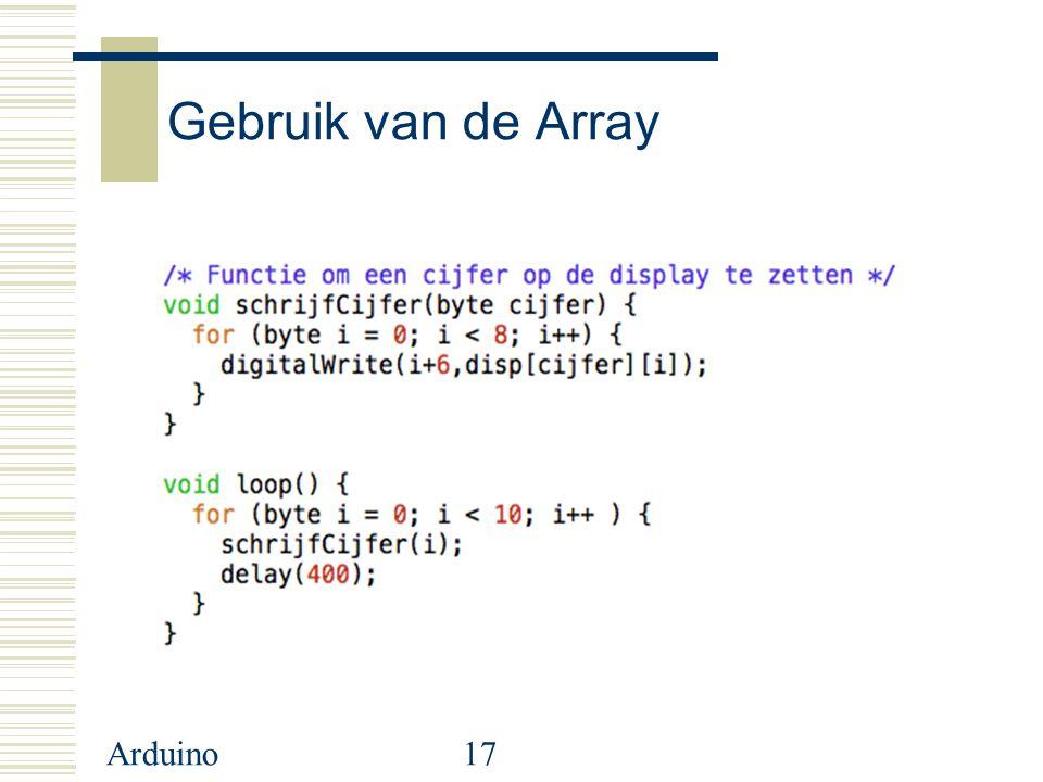 Gebruik van de Array Arduino