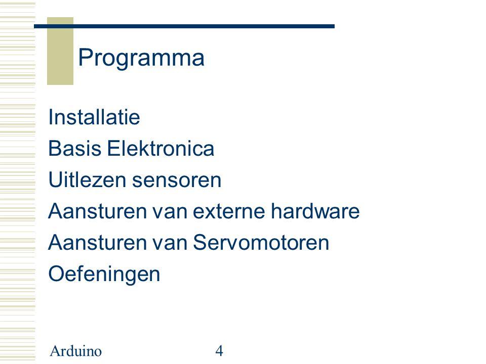 Programma Installatie Basis Elektronica Uitlezen sensoren