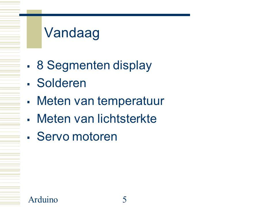 Vandaag 8 Segmenten display Solderen Meten van temperatuur
