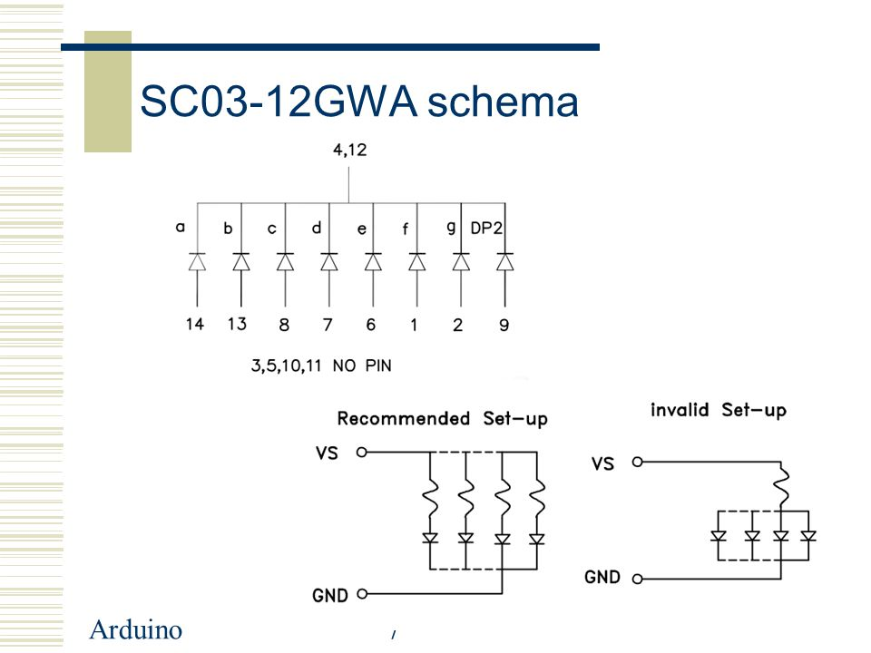 SC03-12GWA schema Arduino
