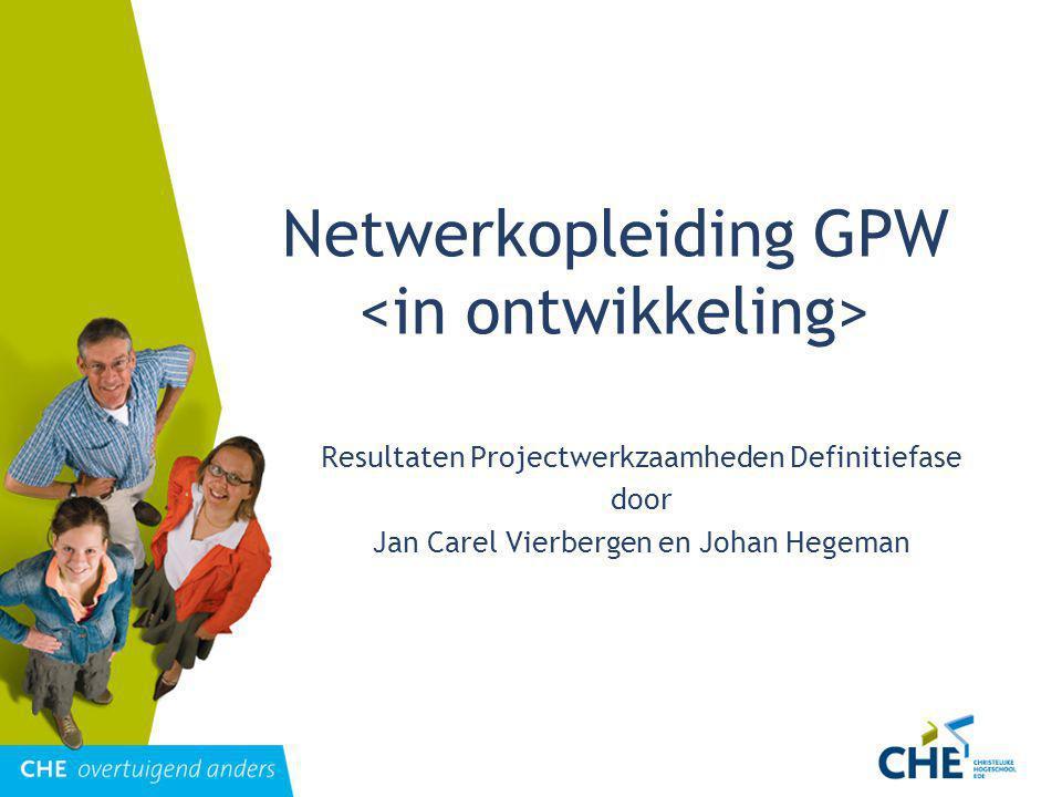 Netwerkopleiding GPW <in ontwikkeling>