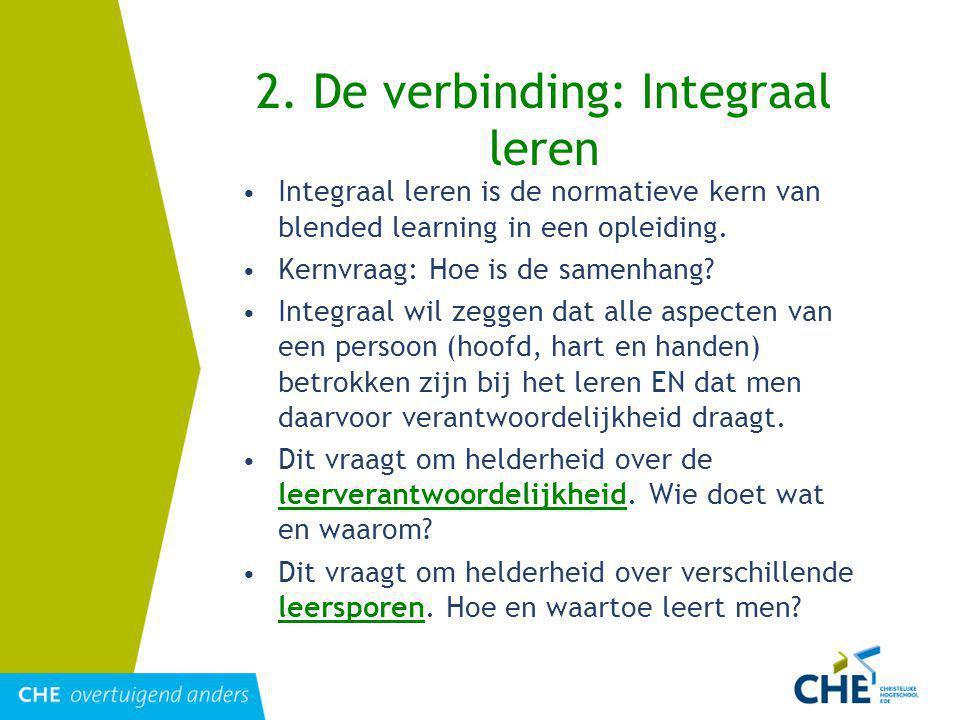 2. De verbinding: Integraal leren