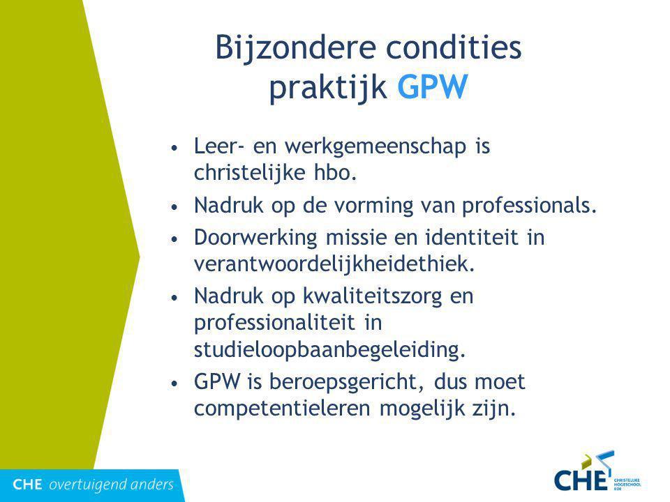 Bijzondere condities praktijk GPW
