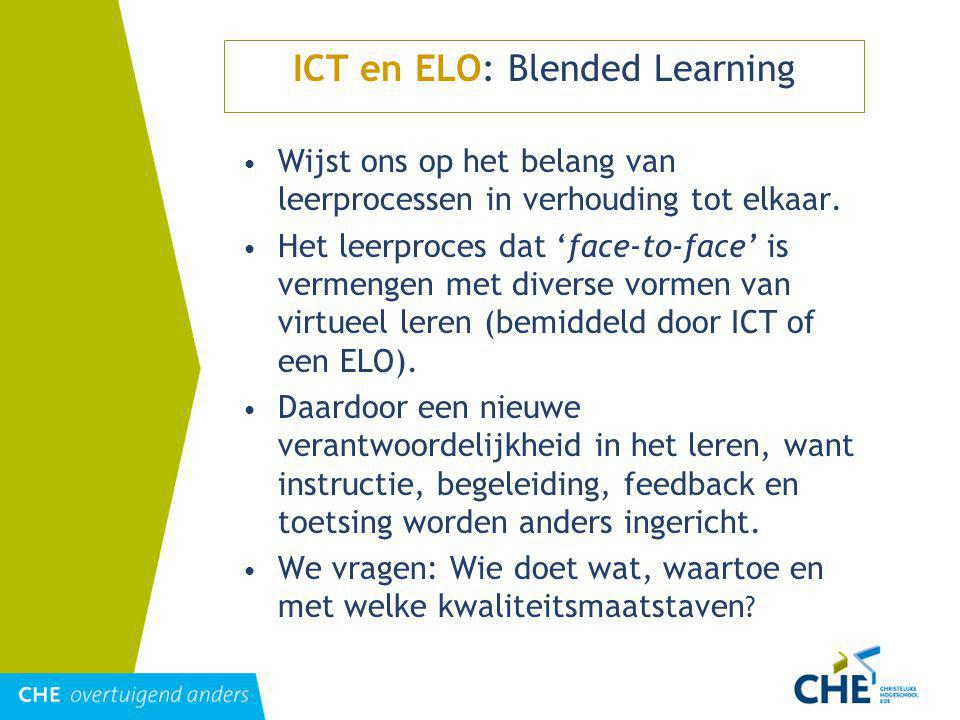ICT en ELO: Blended Learning