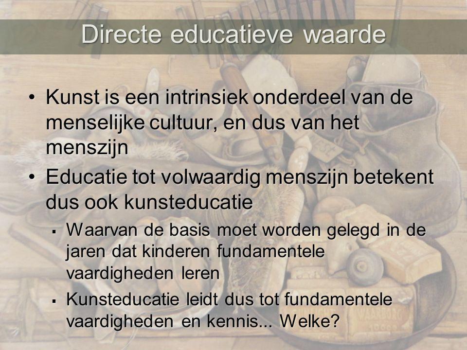 Directe educatieve waarde
