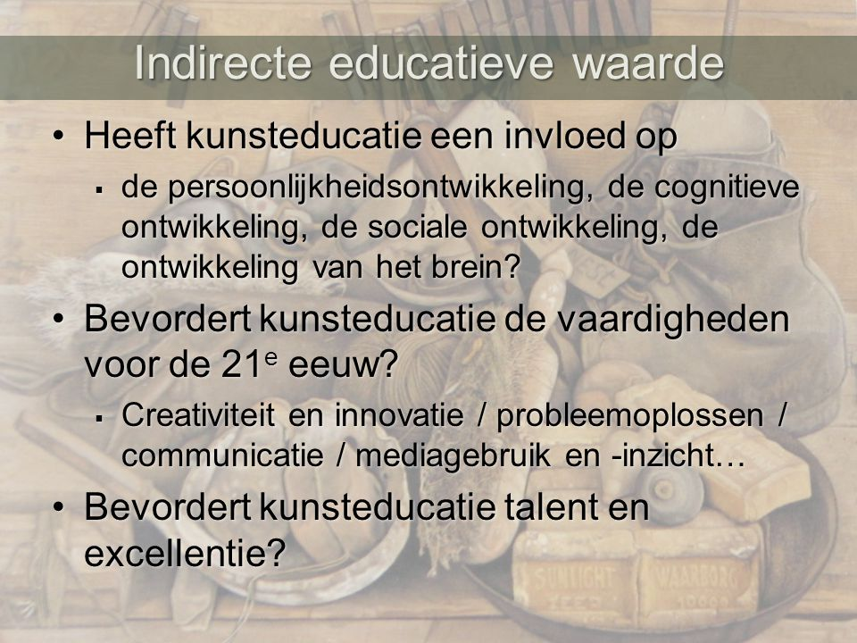 Indirecte educatieve waarde