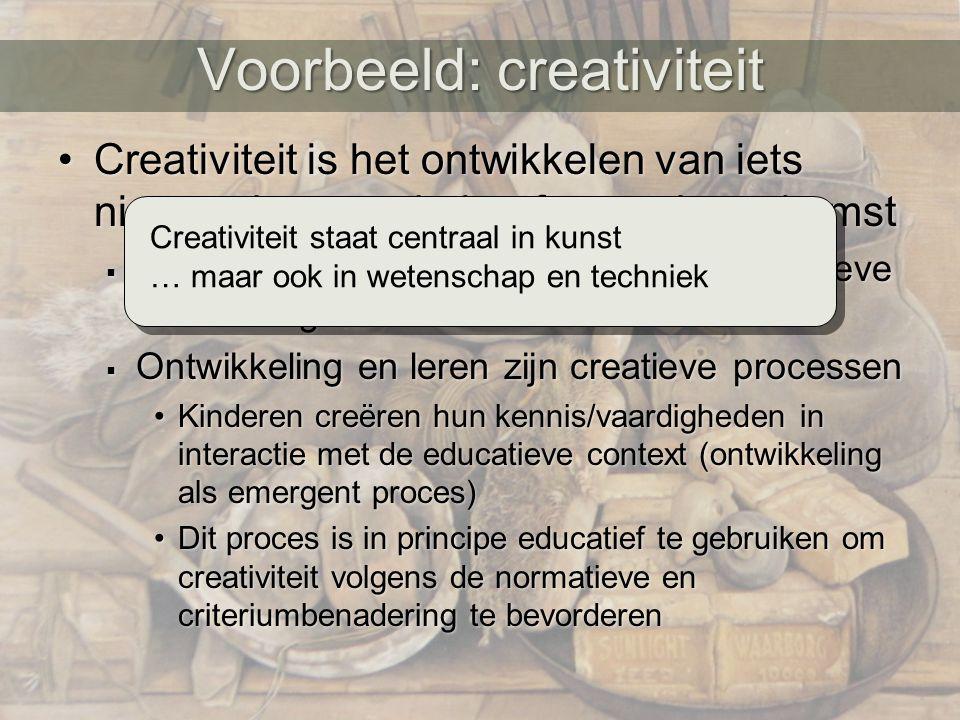 Voorbeeld: creativiteit
