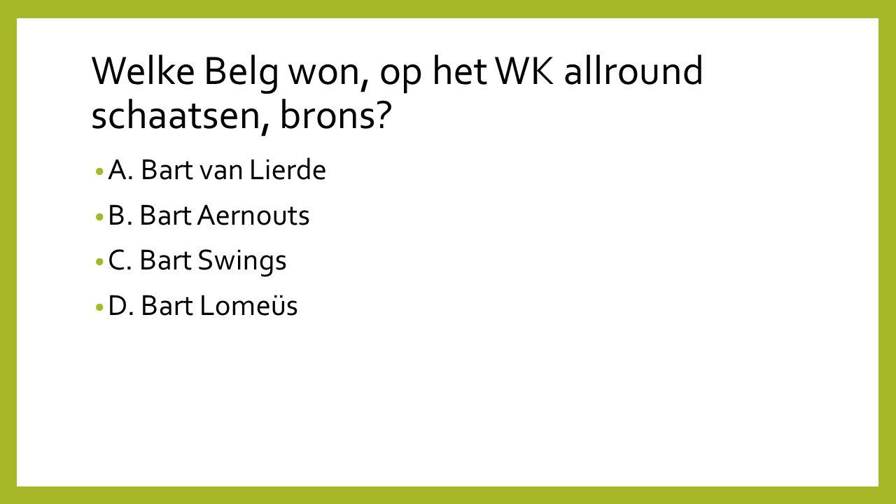 Welke Belg won, op het WK allround schaatsen, brons