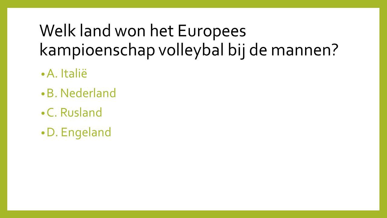 Welk land won het Europees kampioenschap volleybal bij de mannen
