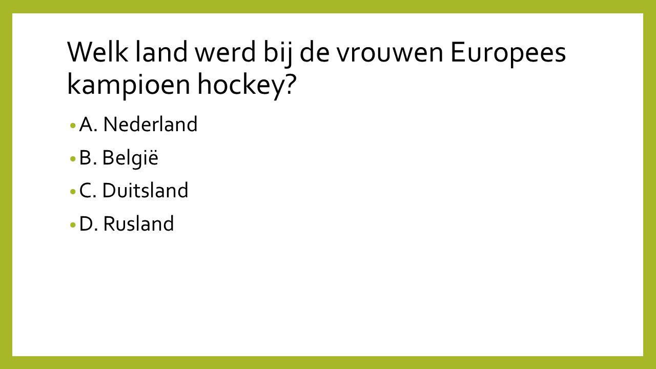 Welk land werd bij de vrouwen Europees kampioen hockey