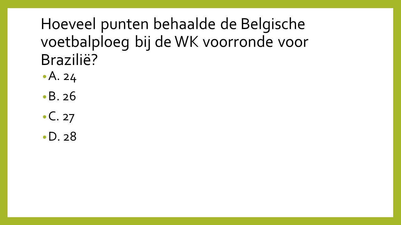 Hoeveel punten behaalde de Belgische voetbalploeg bij de WK voorronde voor Brazilië