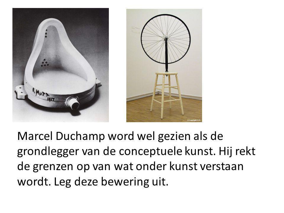 Marcel Duchamp word wel gezien als de grondlegger van de conceptuele kunst.