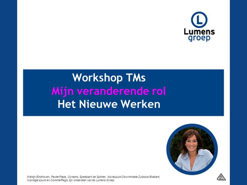 Workshop TMs Mijn veranderende rol Het Nieuwe Werken