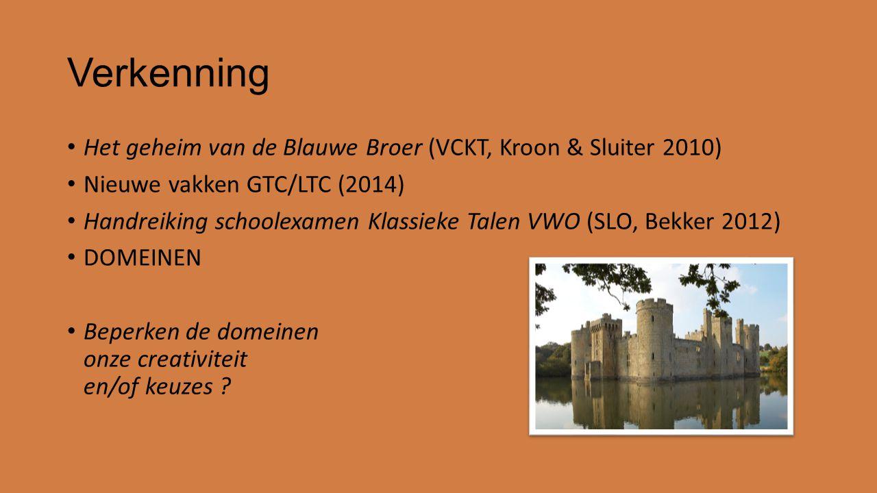 Verkenning Het geheim van de Blauwe Broer (VCKT, Kroon & Sluiter 2010)