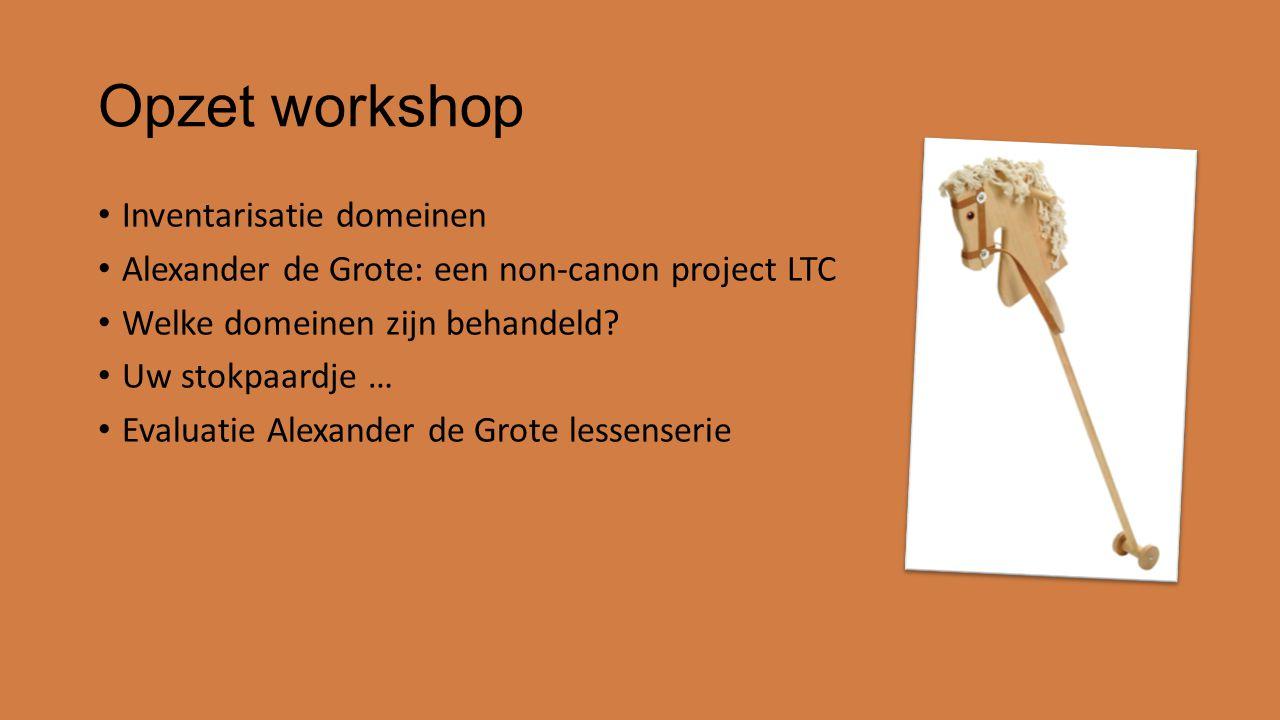 Opzet workshop Inventarisatie domeinen