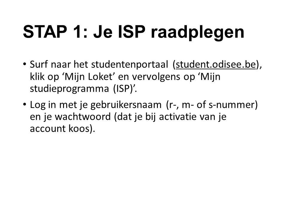 STAP 1: Je ISP raadplegen
