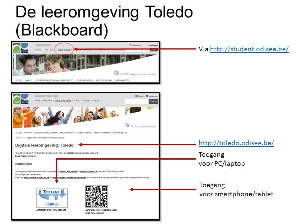 De leeromgeving Toledo (Blackboard)