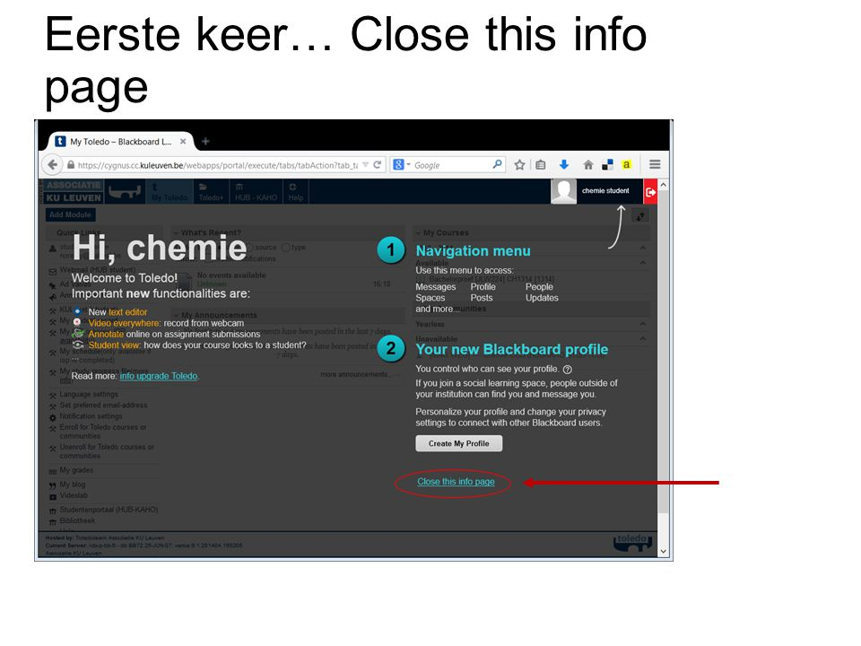 Eerste keer… Close this info page