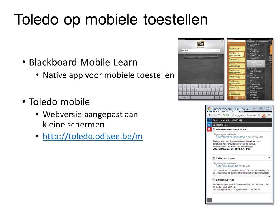 Toledo op mobiele toestellen